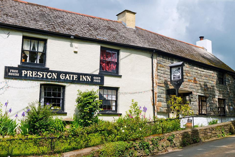 The lovely Preston Gate Inn is one mile away in the village of Poughill