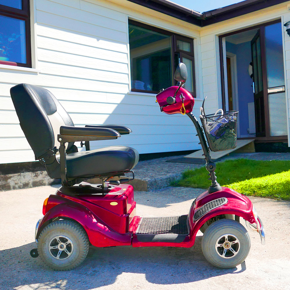 Mobility scooter available whilst on holiday