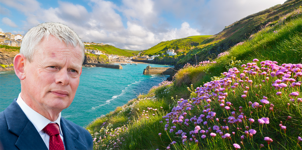 Martin Clunes and the fishing village of Port Isaac - setting for Doc Martin.