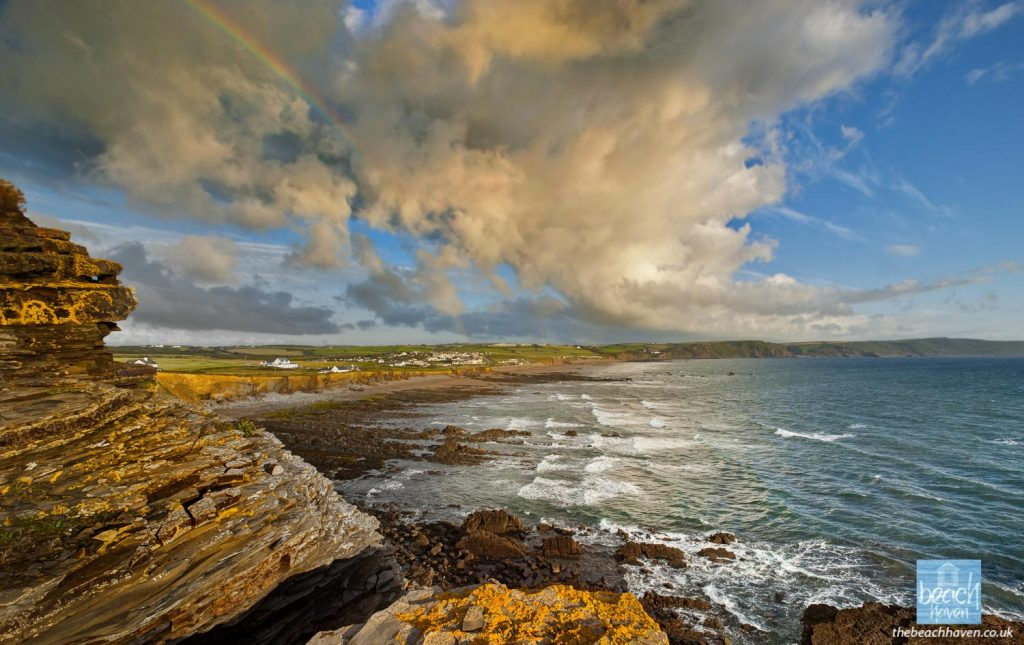 Changeable weather over Widemouth Bay