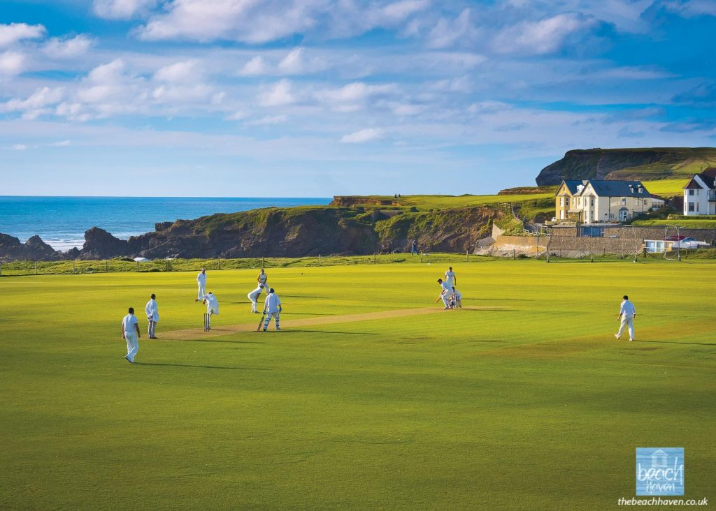 Bude's picture-perfect cricket pitch