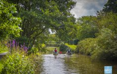 Canoes on Bude Canal at Rodd's Bridge