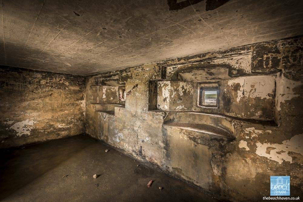Inside the Crooklets pillbox, Bude