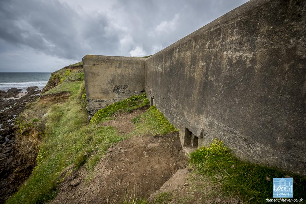 The Crooklets pillbox has a commanding view across Bude Bay.