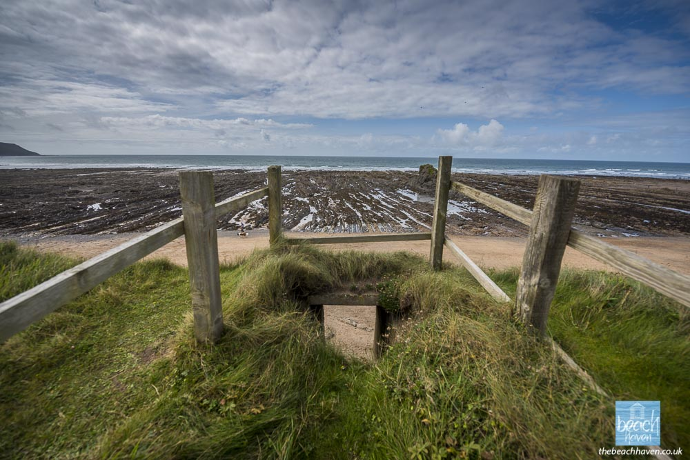 The steps into the south Widemouth pillbox now lead to nowhere!