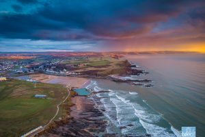 Aerial photos of Bude