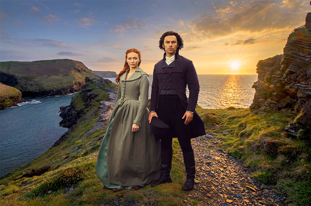 Poldark Series 4 Promotional Photo set at Boscastle in Poldark's Cornwall