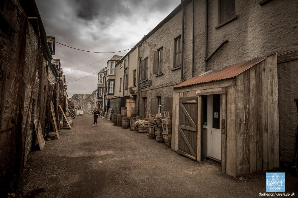 Hartland Quay hotel made-over for filming 'Rebecca'.