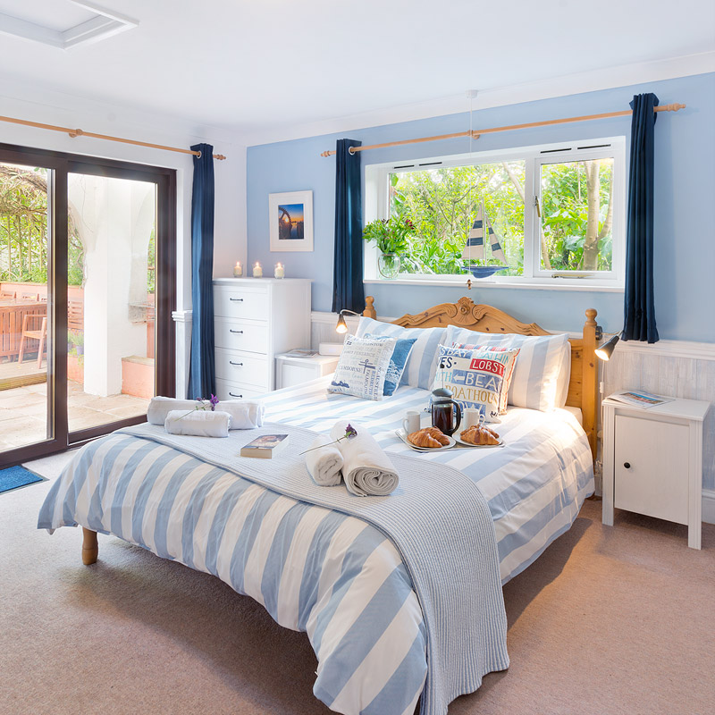 The king-size master bedroom in our Holiday Cottage Cornwall