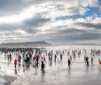 The Christmas Day Swim at Bude, Cornwall
