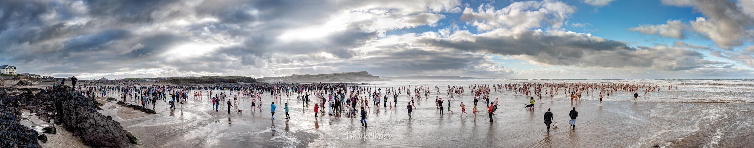 The Christmas Day Swim at Bude, Cornwall