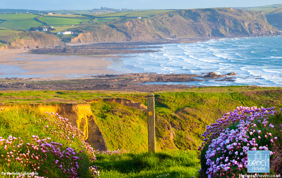 The coastal footpath to Widemouth Bay, a three mile walk from The Beach Haven