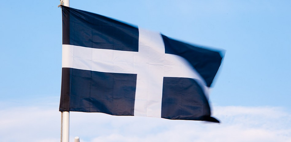 St Piran's flag - the national flag of Cornwall