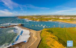 Bude Bay from the air
