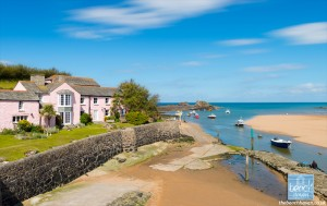 Summerleaze beach and Efford Cottage, Bude