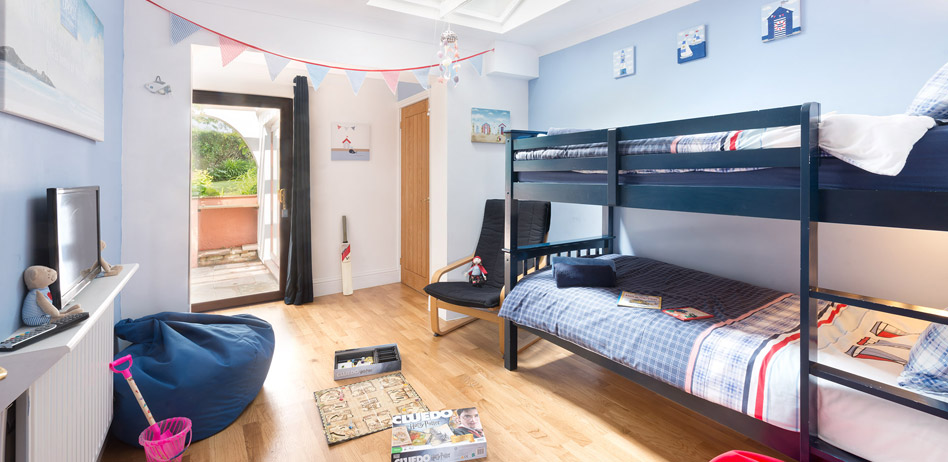 Holiday Cottages Cornwall. The bunk room at The Beach Haven holiday rental in Cornwall