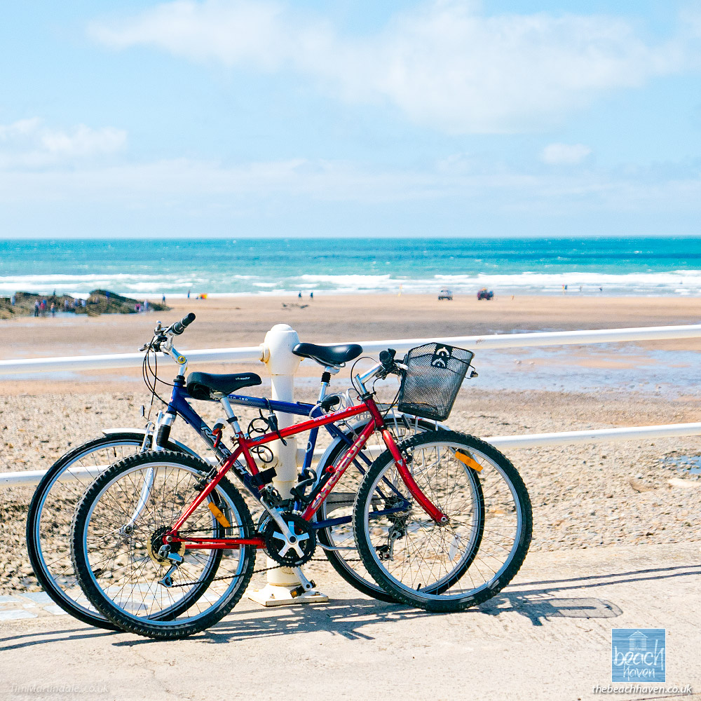 Bikes at Crooklets beach