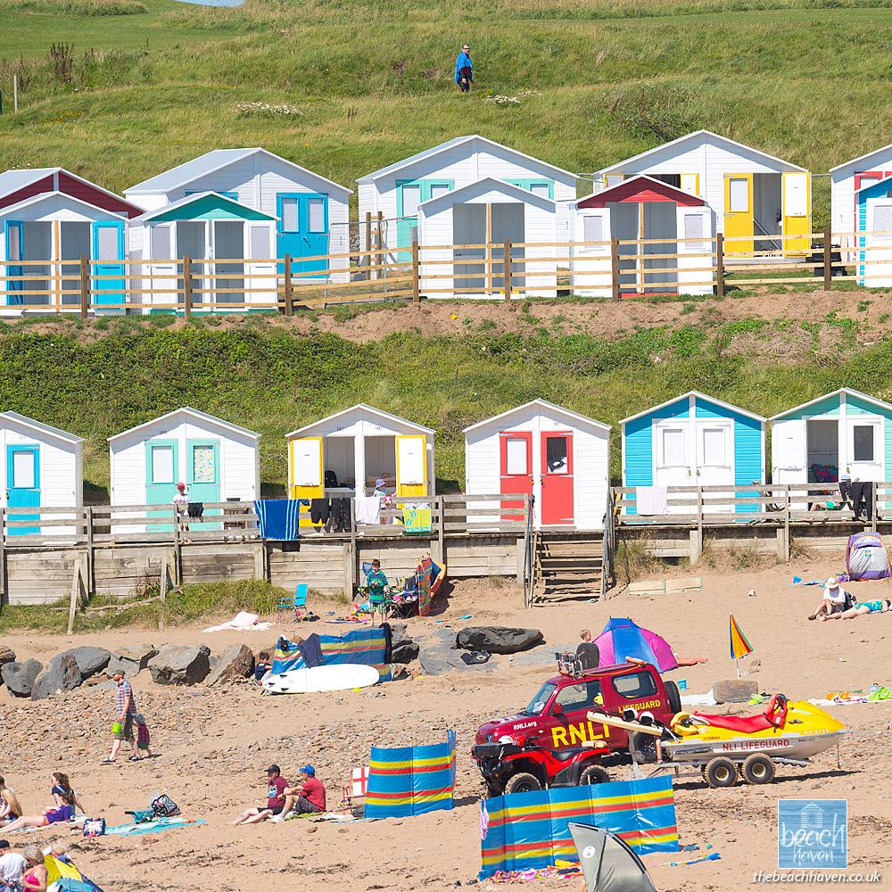 Beach huts at Bude