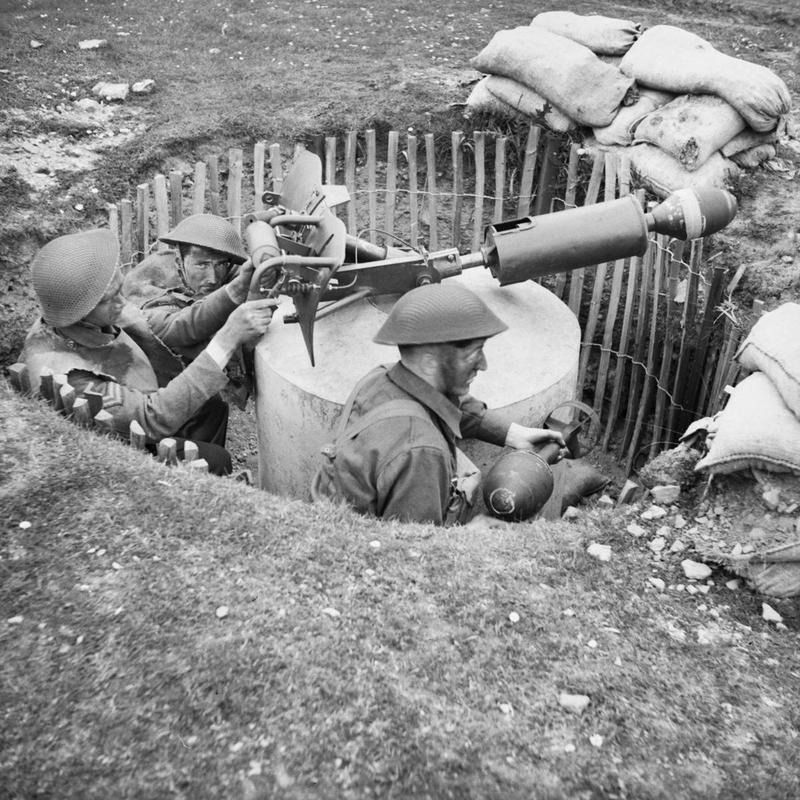 The spigot mortars were used in coastal defence by the Home Guard during the Decond World War. Don't panic!!