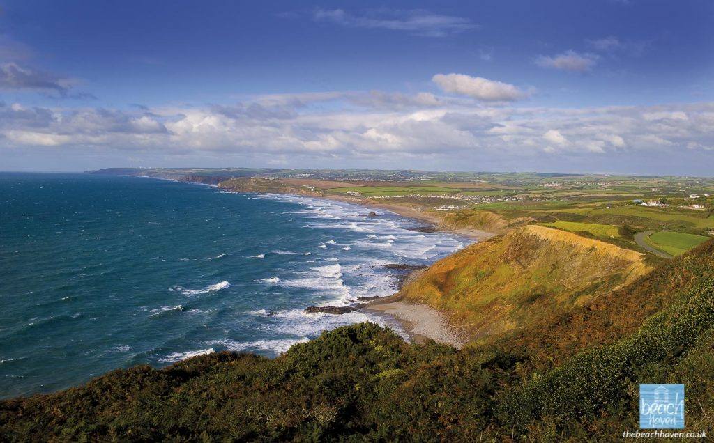 The wonderful view of Widemouth Bay from Penhalt Cliff