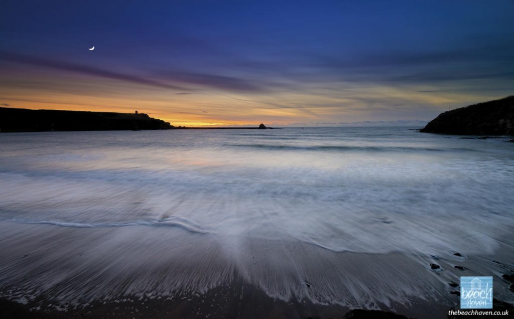 Dusk at Summerleaze beach