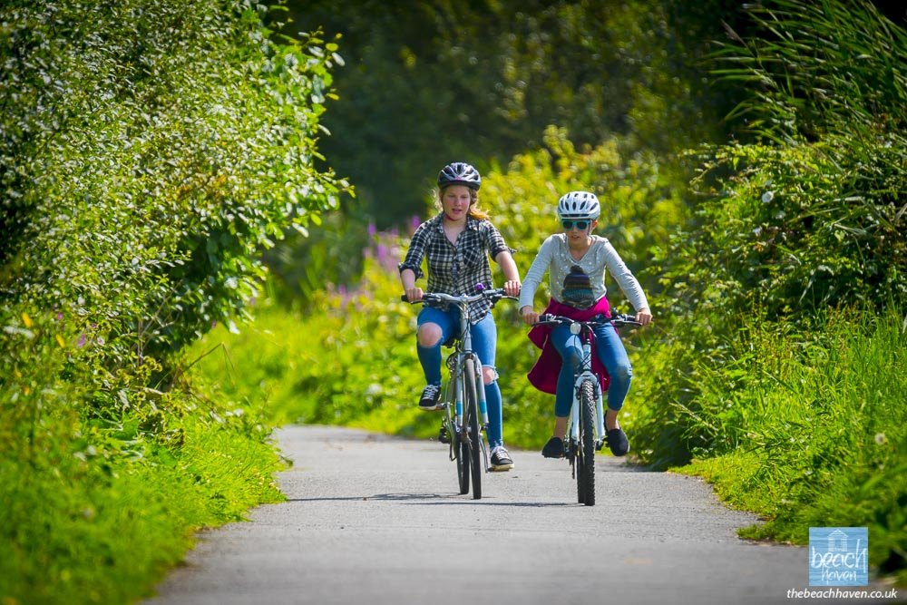 Cycling on Bude Cycle Path