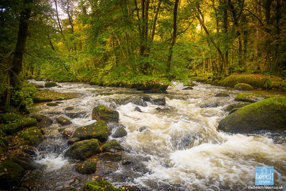 River Teign falls.